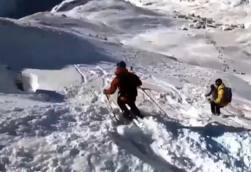 Лавина накрыла горнолыжников в Альпах