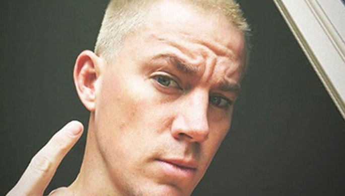 Ченнинг Татум побрился истал платиновым блондином