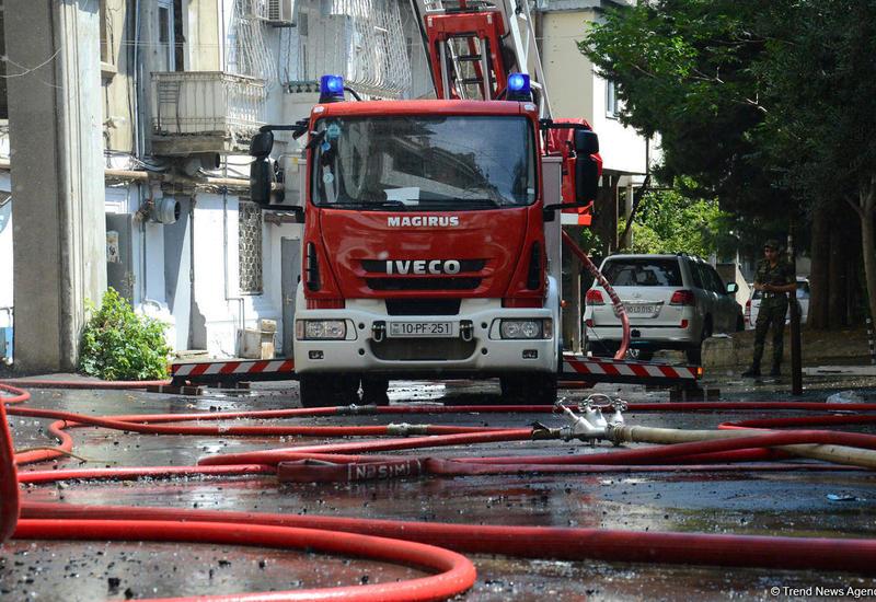 Страшный пожар в четырехкомнатке в Габале