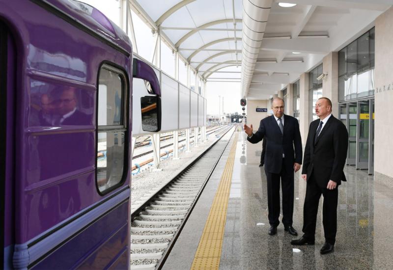"""Президент Ильхам Алиев ознакомился с условиями, созданными на станции метро «Бакмил» <span class=""""color_red"""">- ФОТО</span>"""