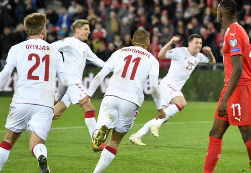 Дания совершила невероятный камбэк за девять минут в матче против Швейцарии