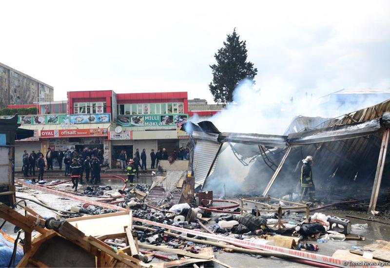 МЧС сделало заявление о сгоревшем торговом центре в Баку