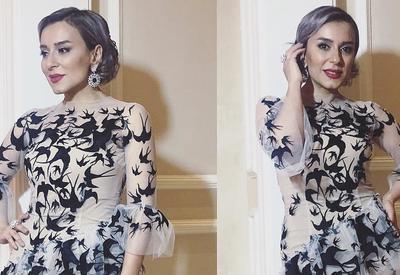 """Как в Oscar de la Renta: Тунзаля Агаева в наряде от азербайджанского дизайнера <span class=""""color_red"""">- ФОТО</span>"""