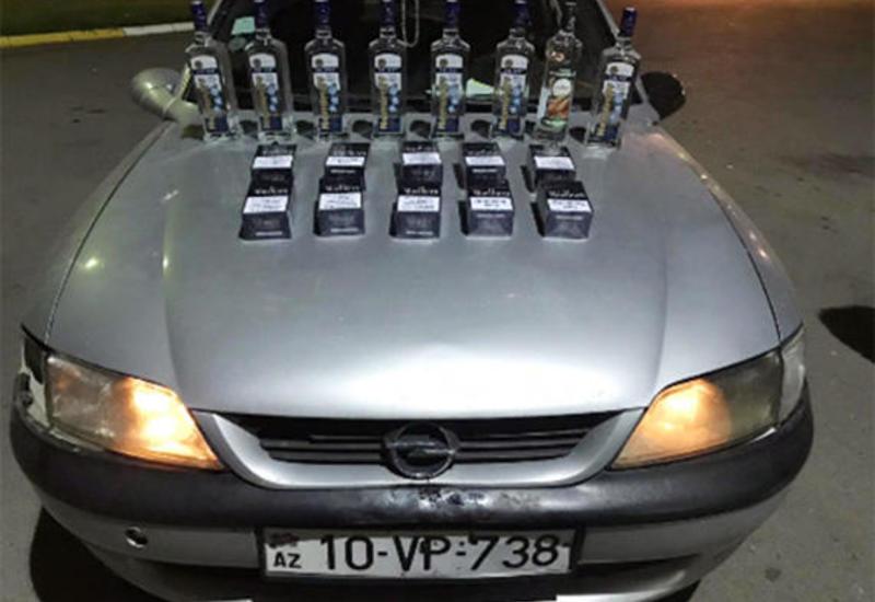 """В Азербайджан не пустили контрабандные сигареты и алкоголь <span class=""""color_red"""">- ФОТО</span>"""