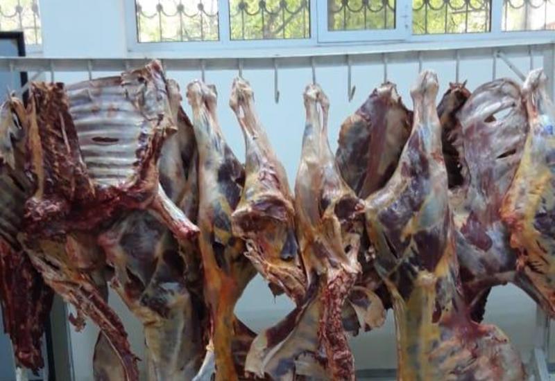 """В Азербайджане пресекли попытку продажи сотен кг непригодного к использованию мяса <span class=""""color_red"""">- ФОТО</span>"""