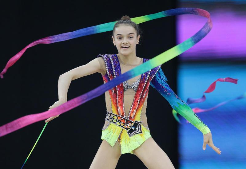 """В Национальной арене гимнастики проходят подиумные тренировки участников турнира AGF Junior Trophy <span class=""""color_red"""">- ФОТОРЕПОРТАЖ</span>"""