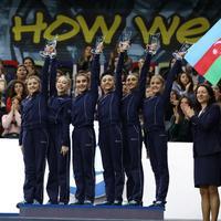 "Любить и прославлять Азербайджан: гимнастки неописуемо исполнили гимн <span class=""color_red""> - ВИДЕО</span>"