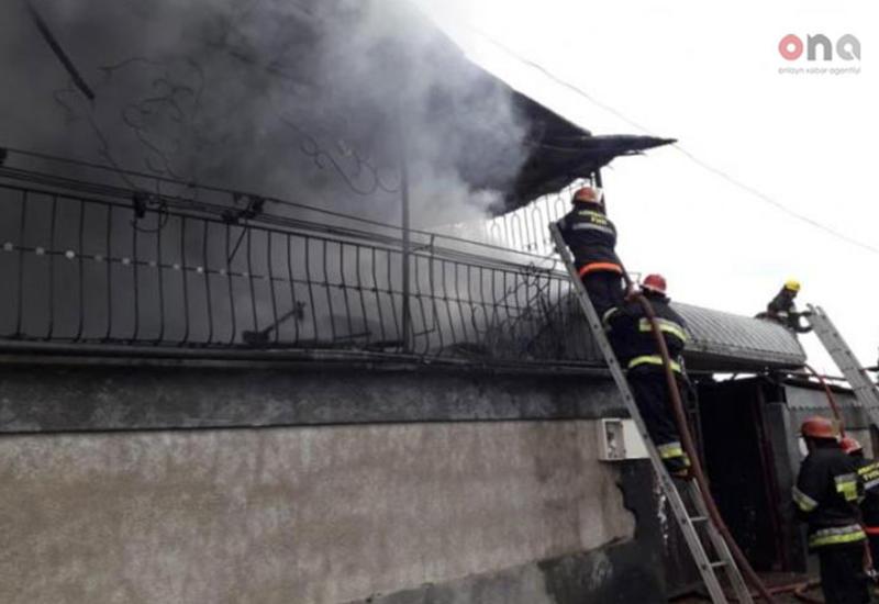"""Пожар в Губе, сгорел частный дом <span class=""""color_red"""">- ФОТО</span>"""