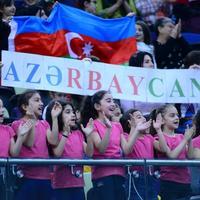 Команда Азербайджана завоевала «золото» Международного турнира AGF Junior Trophy в групповых упражнениях с пятью обручами