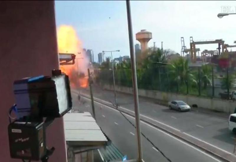 Новый взрыв в Шри-Ланке попал на камеры