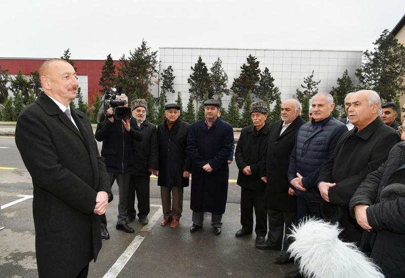 Президент Ильхам Алиев принял участие в открытии дороги Мардакан-Гала
