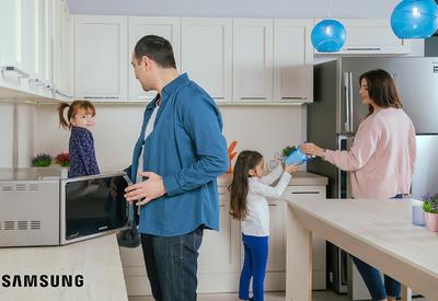 """Рецепт счастья для каждой семьи <span class=""""color_red"""">– бытовая техника от Samsung</span>"""