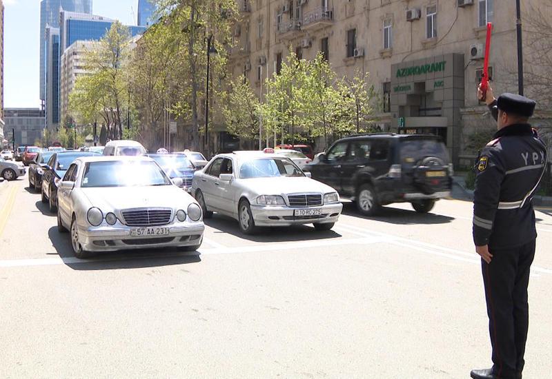 Бакинская дорожная полиция перешла на усиленный режим работы