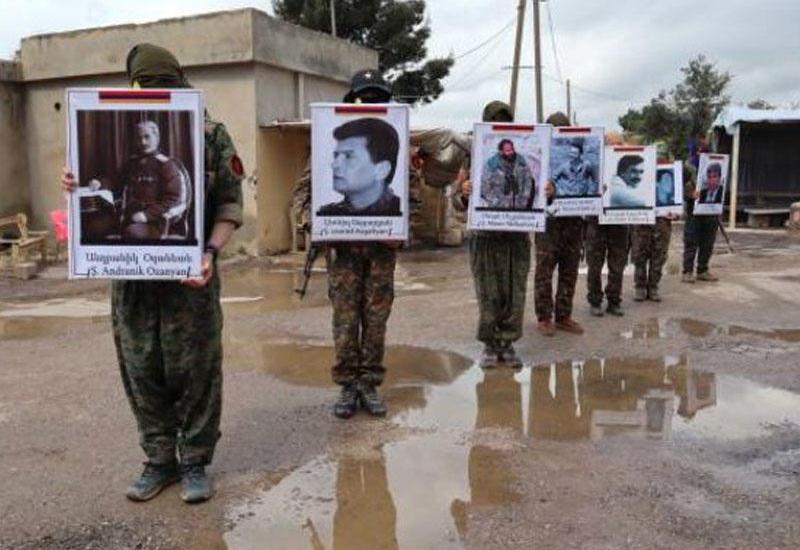 PKK Suriyada ermənilərdən ibarət tabor yaratdı - FOTO