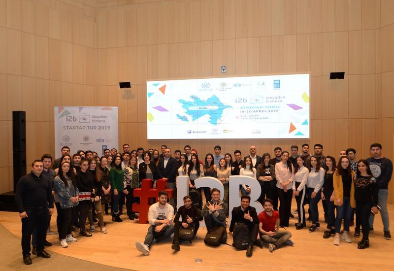 """При поддержке Azercell в рамках проекта """"От идеи к бизнесу"""" состоялись стартап-туры в Товузе и Баку <span class=""""color_red"""">- ФОТО</span>"""