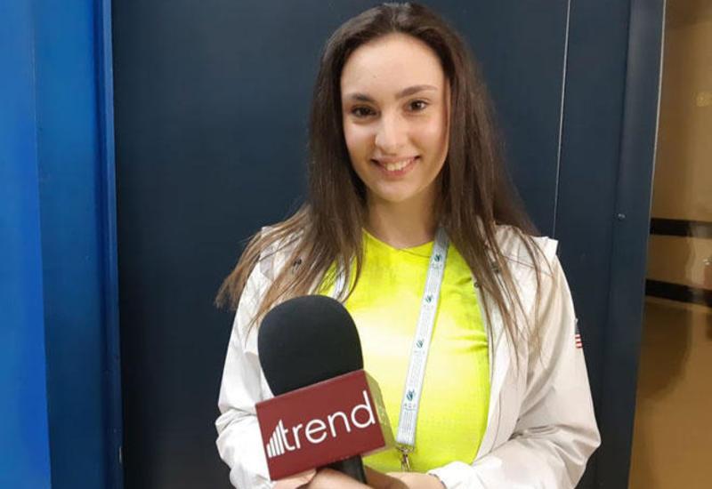 Американской тренер: Мы обожаем зал Национальной арены гимнастики в Баку
