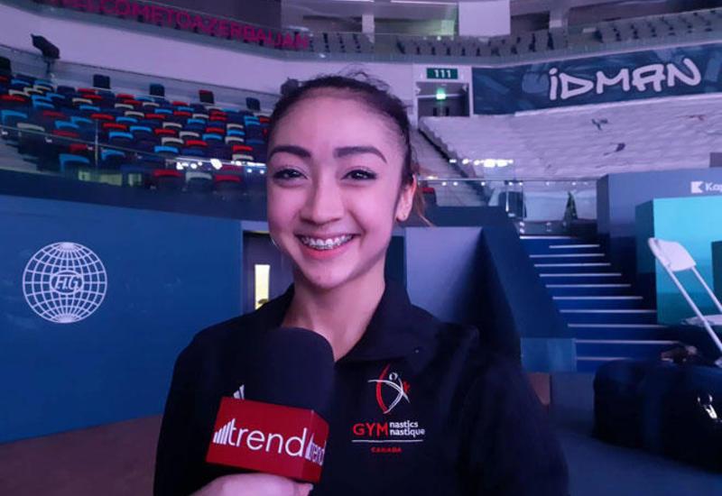 Канадская спортсменка: Национальная арена гимнастики в Баку - одна из моих любимых гимнастических площадок