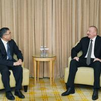 """Президент Ильхам Алиев встретился в Пекине с председателем компании Huawei <span class=""""color_red"""">- ФОТО</span>"""