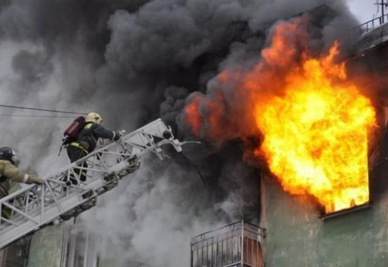 Страшный пожар в общежитии в Сумгайыте