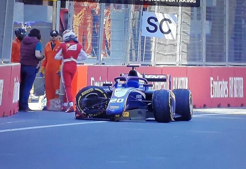 Еще одна авария на гонке F2 в Баку