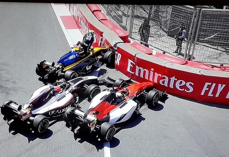 Вторая цепная авария на Формуле-2 в Баку