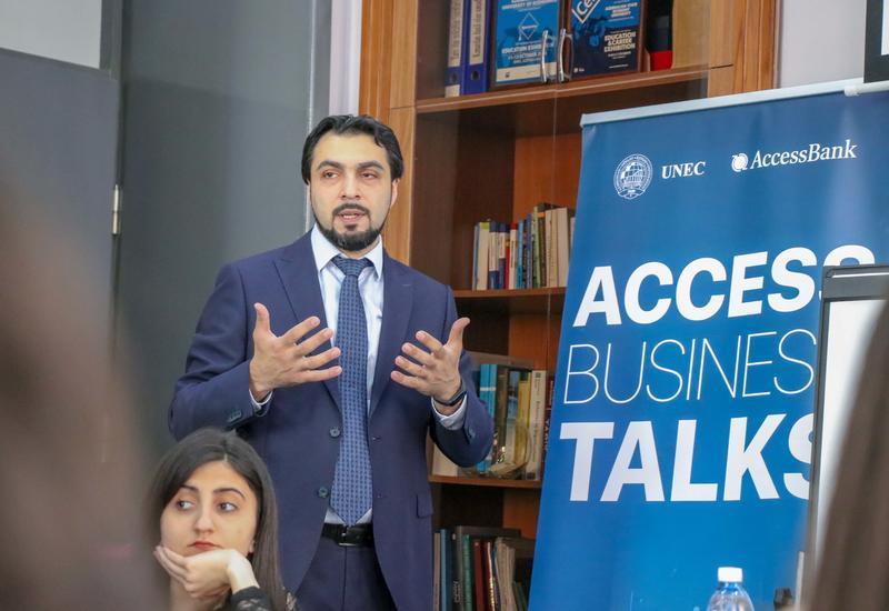 Студенты UNEC с интересом восприняли принцип работы AccessBank-а в сфере документарных операций