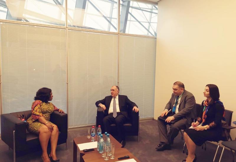 Эльмар Мамедъяров на переговорах с главой МИД Ганы