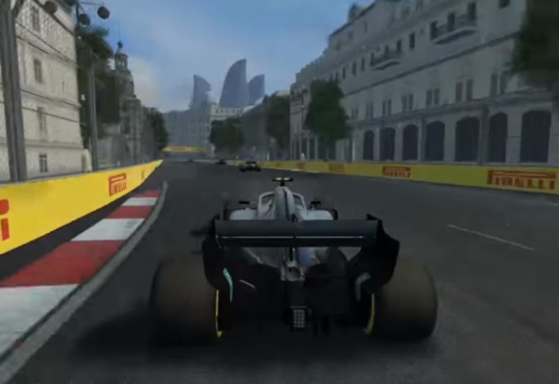 В официальной игре Формулы-1 появилась Бакинская трасса