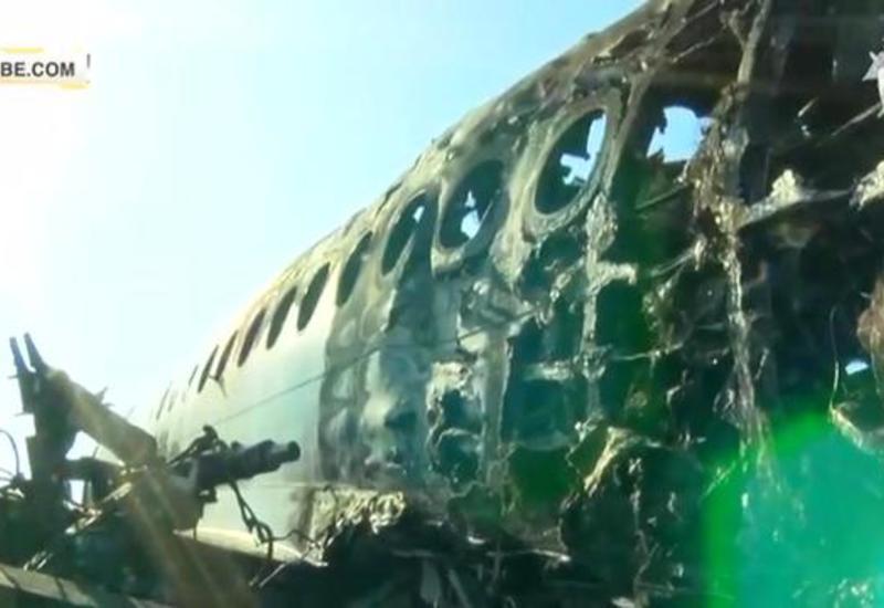 Опубликованы кадры из салона сгоревшего в Шереметьеве SSJ-100