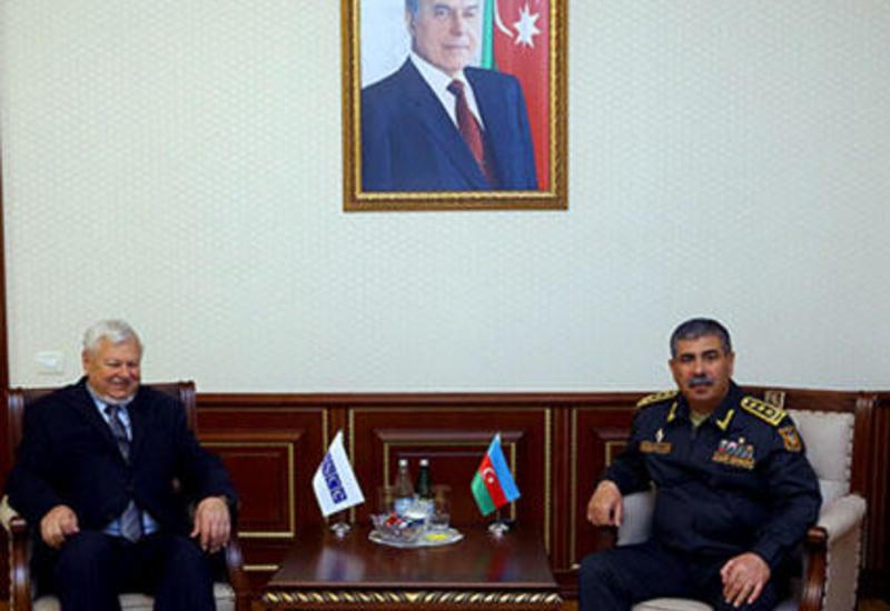 Закир Гасанов на переговорах с личным представителем действующего председателя ОБСЕ