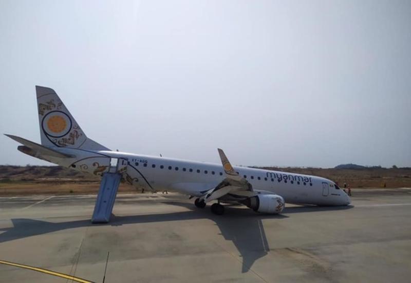 Жесткая посадка самолета без шасси попала на камеры