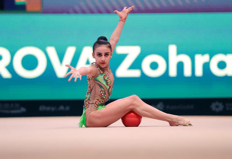 Азербайджанская гимнастка Зохра Агамирова на Летних Олимпийских играх-2020 в Токио