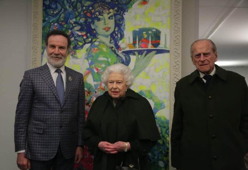 Азербайджанский художник рассказал о встрече с Королевой Елизаветой II