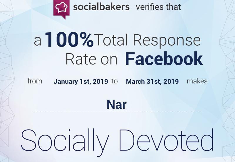 Nar ответил на 100% обращений полученных в Facebook