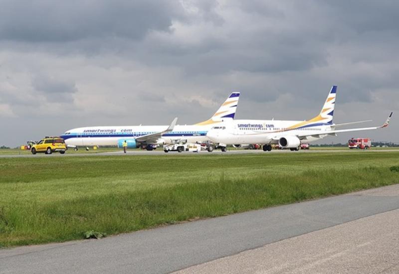 Два самолета Boeing столкнулись в аэропорту Праги