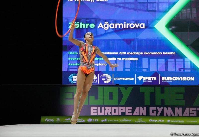 Продолжаются финальные соревнования Чемпионата Европы Европы по художественной гимнастике в Баку
