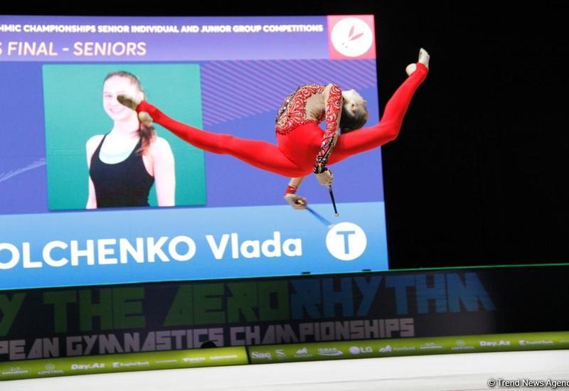 Лучшие моменты финальных соревнований Чемпионата Европы по художественной гимнастике в Баку