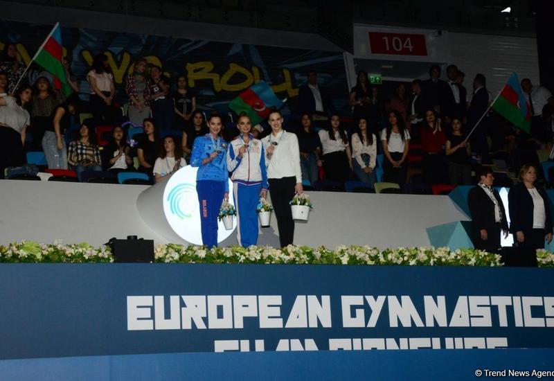 В Баку состоялась церемония награждения победителей Чемпионата Европы по художественной гимнастике в индивидуальной программе