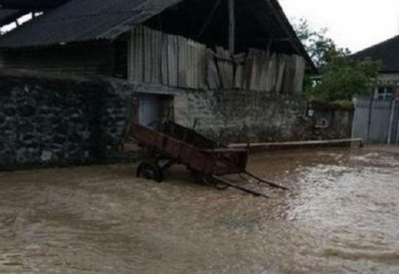 Последствия проливных дождей в Товузе
