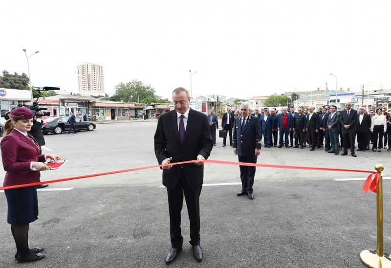 Президент Ильхам Алиев принял участие в открытии Сабунчинского железнодорожного вокзала