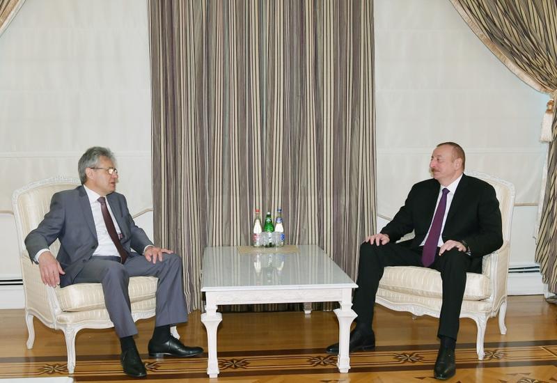 Президент Азербайджана Ильхам Алиев принял главу Российской академии наук