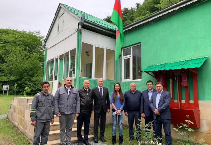 Вице-президент Фонда Гейдара Алиева Лейла Алиева приняла участие в церемонии выпуска зубров в Шахдагском нацпарке