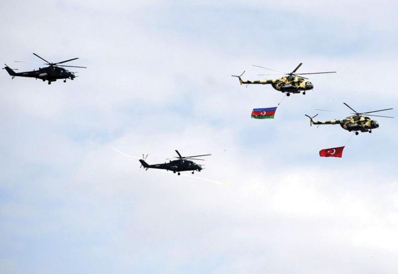 ВВС Азербайджана на военных учениях в Турции