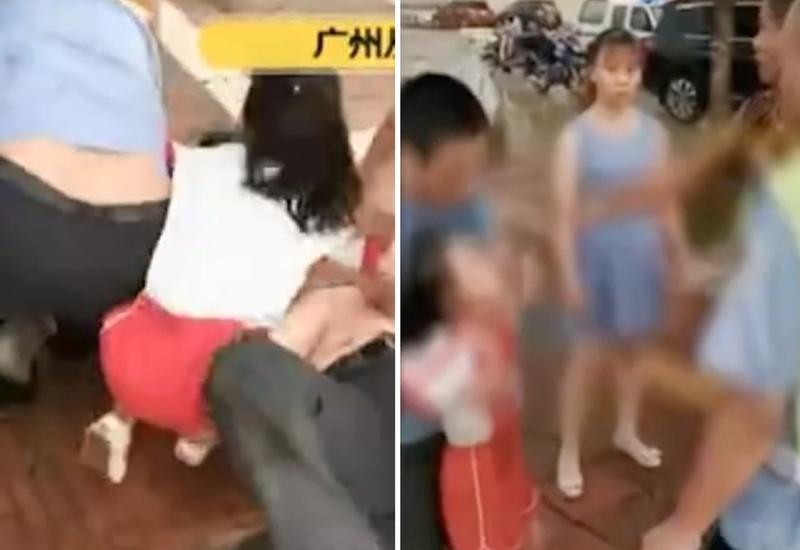 «Пожалуйста, не бейте папу!»: девочка прикрыла отца собой от полицейских