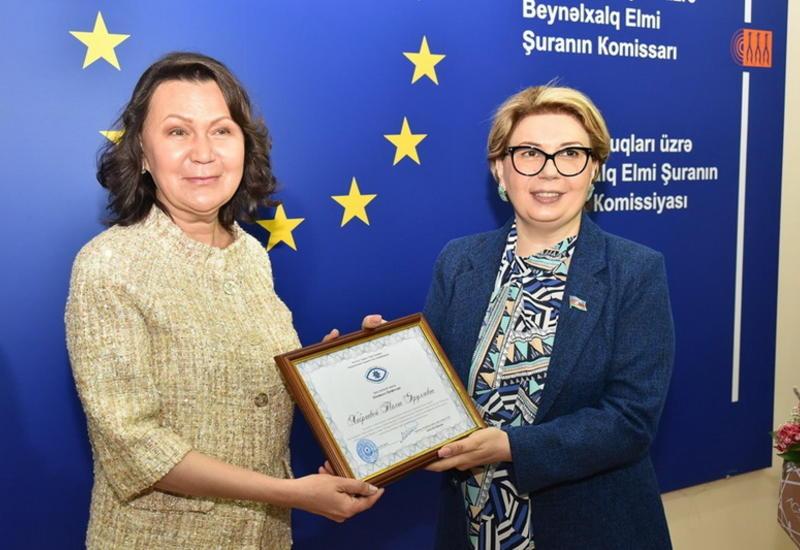 Делегация, возглавляемая академиком Талией Хабриевой, провела встречу с академиками Института права и прав человека НАНА