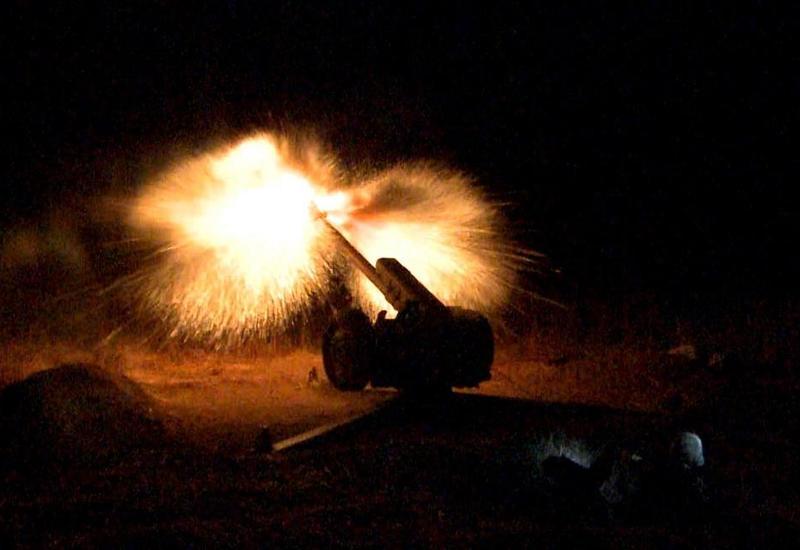 Ночные стрельбы азербайджанской армии
