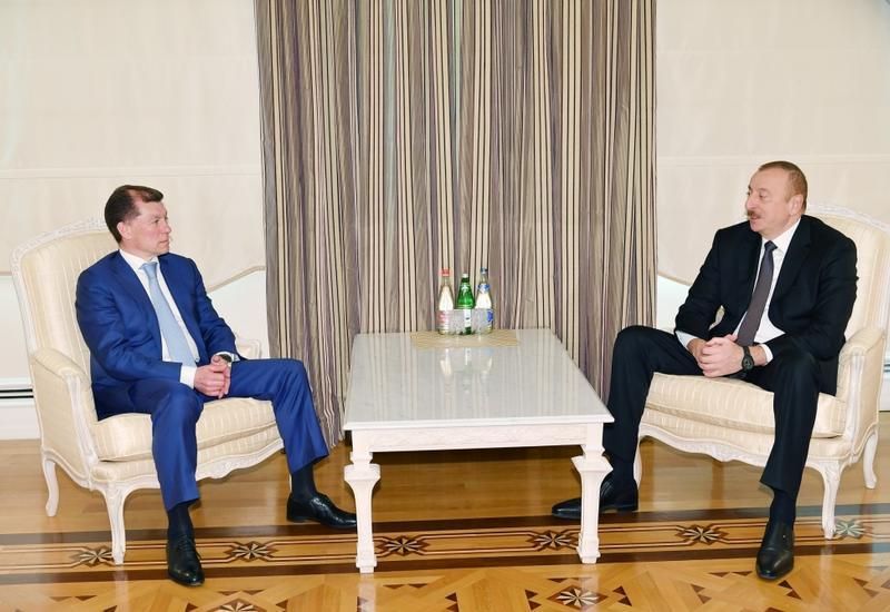 Президент Ильхам Алиев принял министра труда и социальной защиты России