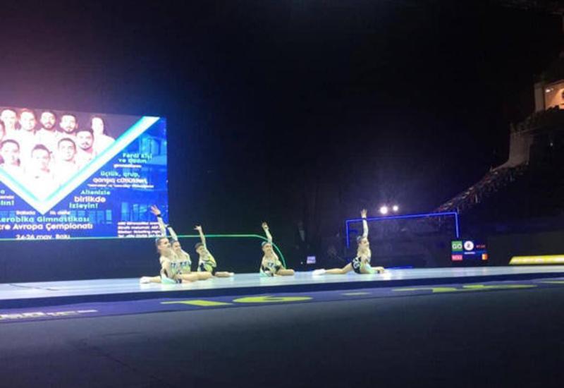 В Баку определились финалисты Чемпионата Европы по аэробной гимнастике среди групп