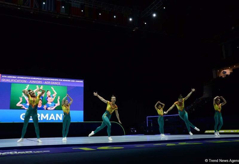 В Баку стартовал 11-й Чемпионат Европы по аэробной гимнастике