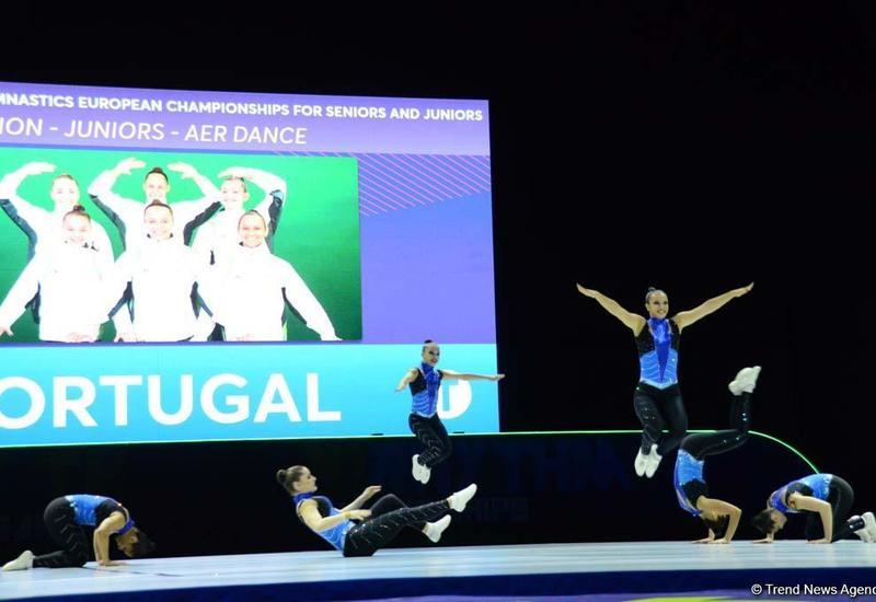 В Баку продолжаются соревнования в рамках Чемпионата Европы по аэробной гимнастике